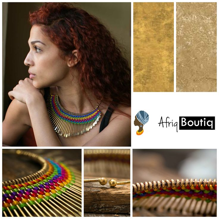Beautiful! Hand-hammered brass fringe choker necklace.  Boho Chic Jewelry.  Transform into a #goddess at our #afriqboutiq #etsy shop https://www.etsy.com/shop/AfriqBoutiq.