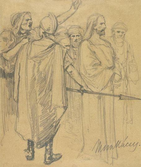 Munkácsy Mihály (1844-1900) - Vázlat Krisztus Pilátus előtt című képhez
