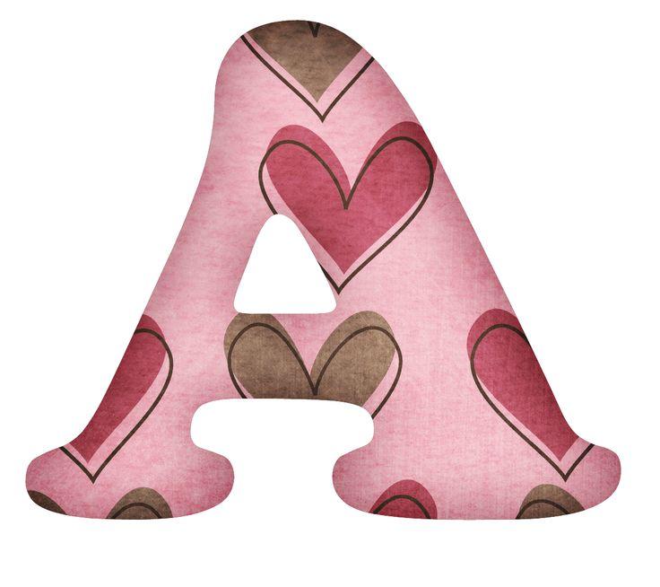 CH B *✿* Alfabeto corazones...A