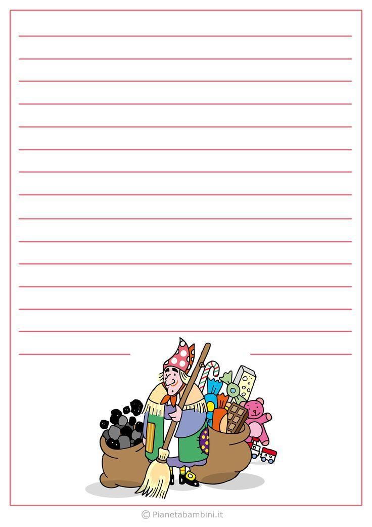 Modello di lettera alla Befana da stampare gratis n.4