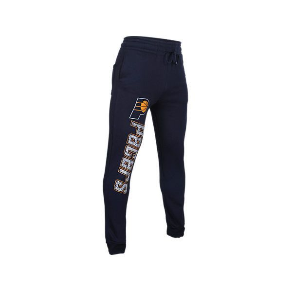 Unk Men's Indiana Pacers NBA Elephant Cuff Pants (£7.98) ❤ liked on Polyvore featuring men's fashion, men's clothing, men's activewear, men's activewear pants, blue, mens jogger sweatpants, mens elastic cuff sweatpants, mens activewear pants, mens sweat pants and mens activewear