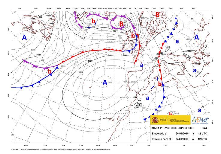 Fenómenos significativos Rachas de viento fuertes o muy fuertes en Canarias y área mediterránea. Predicción En el Cantábrico y Pirineos