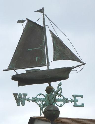 weather vane antique marine copper weathervane sailing ship boat - Weather Vanes