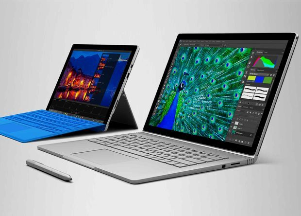 Microsoft Surface Pro 4 и Surface Book.