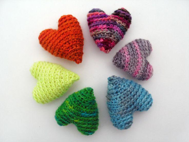 Crochet For Beginners Easy Patterns : Crochet these fun hearts! Haken: Hart Pinterest