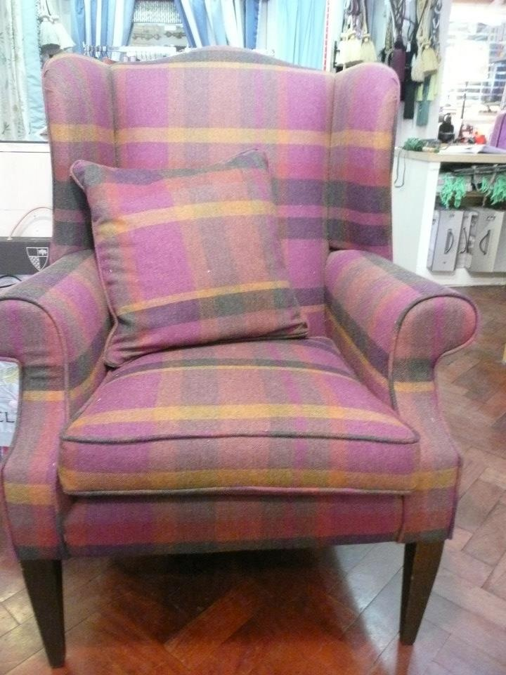 wing chair covered in Zoffany wool €1918