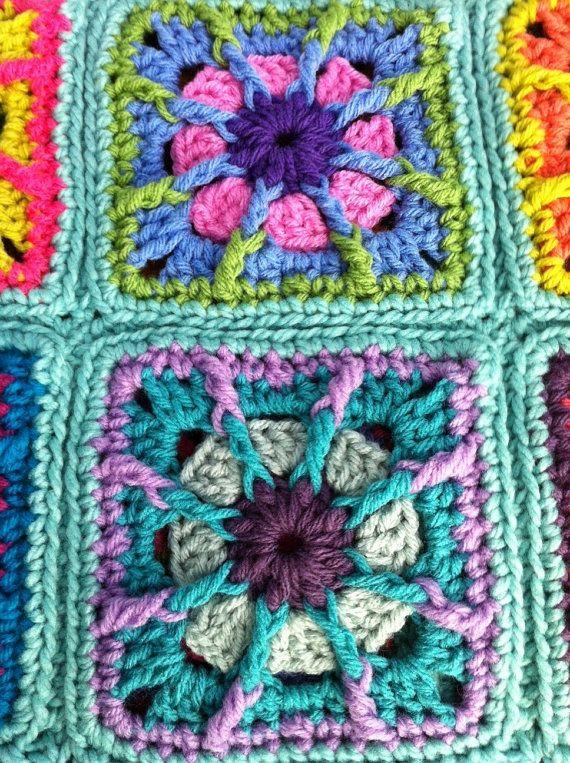 Crochet bebé manta ganchillo bebé afgano por CrochetKaleidoscope