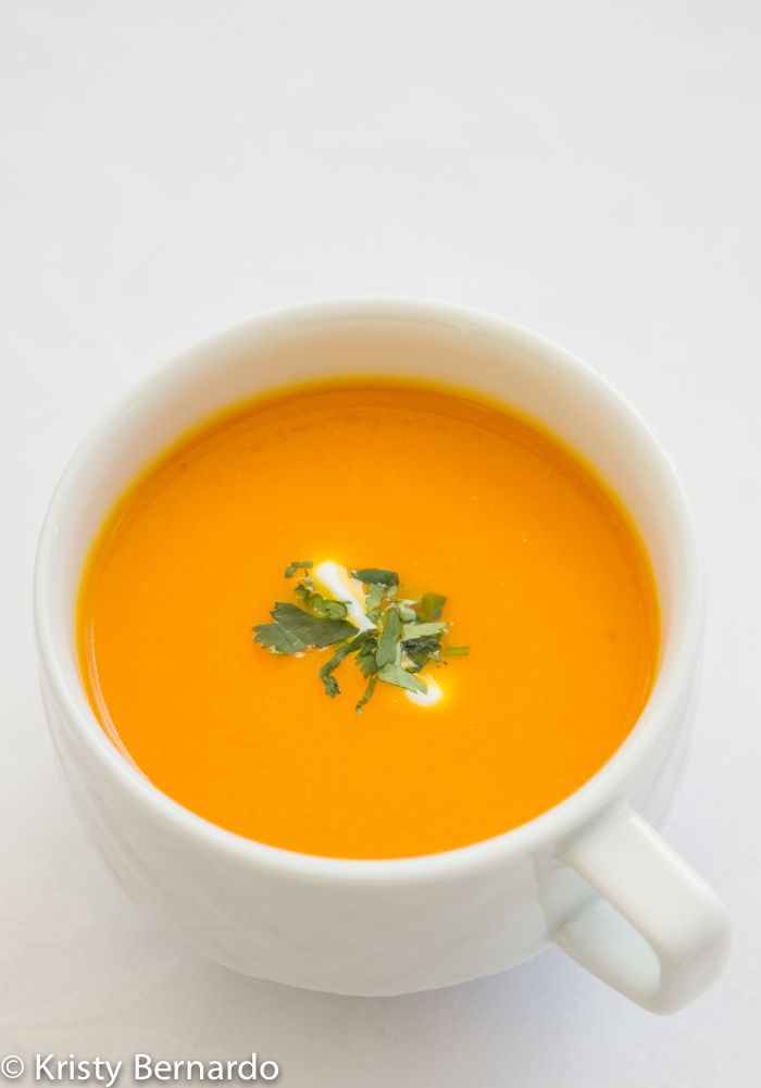 carrot-ginger soup {and some fun with Dole}
