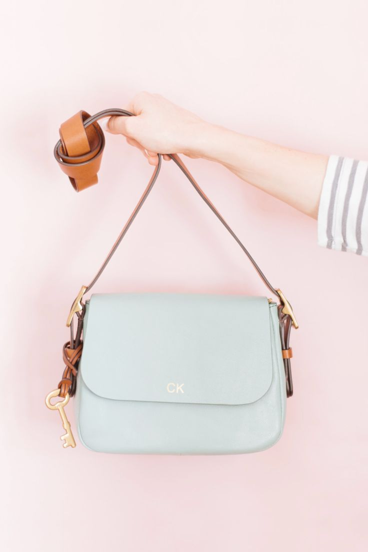 The Harper Crossbody handbag in seaglass is the perfect pop of color for spring. via @stylewthinreach