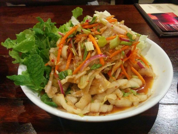 Yum, Thai style salad w/ chicken feet - A: 2 B: 2.5