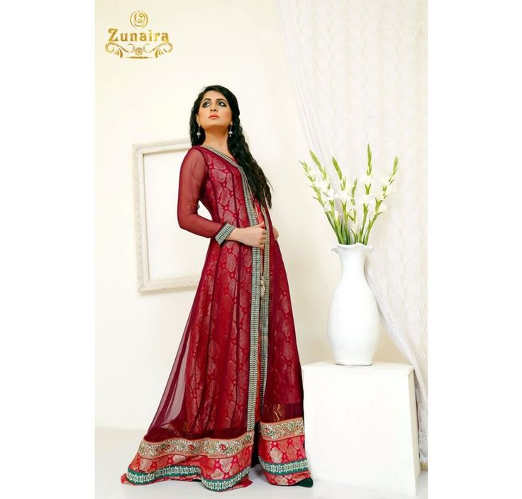 Pakistani Designer Dresses - Lowest Prices - Exquisite Gown Formal Dress by Zunaira Lounge - Latest Pakistani Fashion