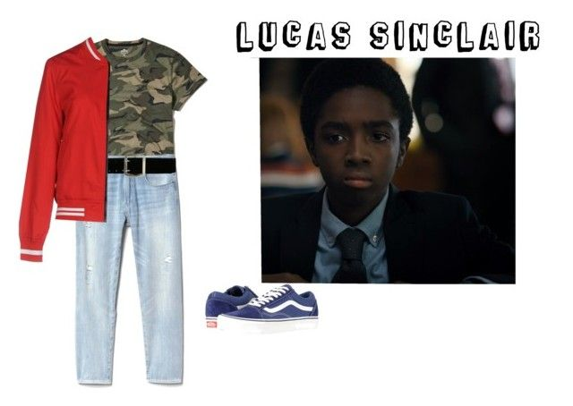 """Lucas Sinclair"" by nancywheeler-24 ❤ liked on Polyvore featuring Hollister Co., Gap, Express, Jacqueline De Yong, Vans, men's fashion, menswear, Season2, StrangerThings and LucasSinclair"