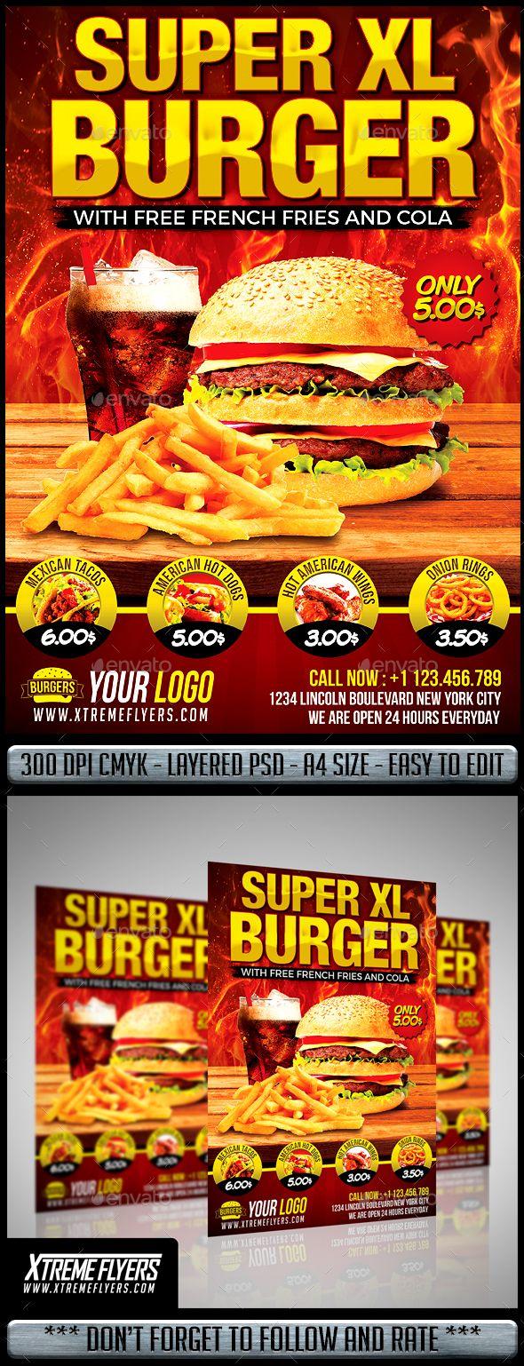 Extrêmement 127 best Burger Flyer images on Pinterest | Flyer template  ED48