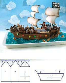 Beautiful Chocolate Pirate Ship Birthday Cake | TreeHouse Party