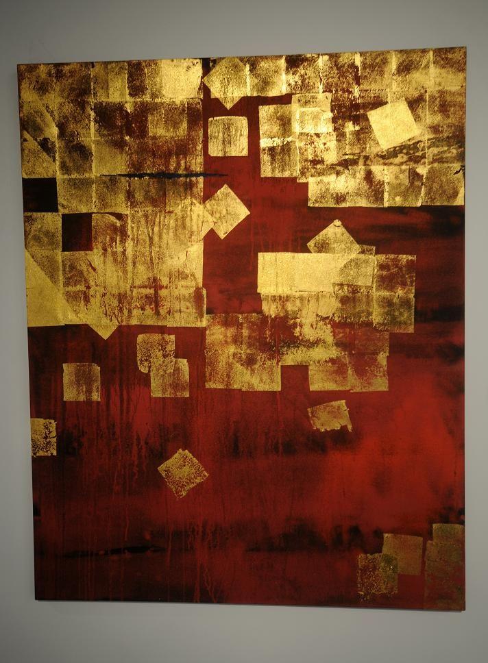Makoto Fujimura Idee: willekeurige losse vormen, vb. vierkanten