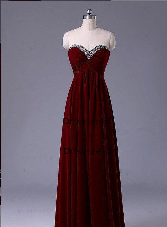Simple Long Prom Dress Cheap Prom Dresses / Red by DressTrend, $149.00