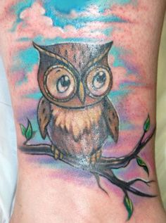 colorful owl tattoos wrist google search for me. Black Bedroom Furniture Sets. Home Design Ideas