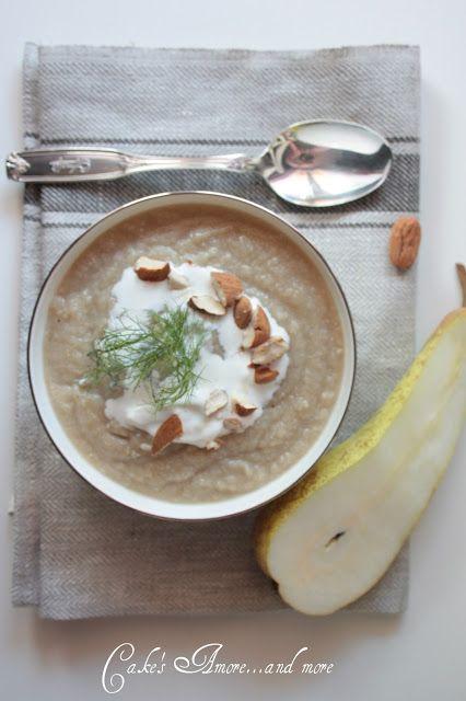 La zuppa di cavolofiore e finocchi  con pere  in brodo di anatra di Patrizia