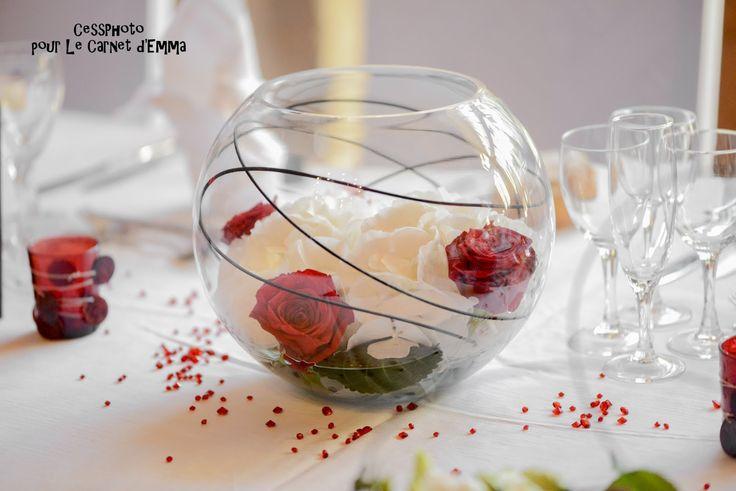 { Joli Jour #16 } Notre décoration en noir blanc et rouge Centre de table
