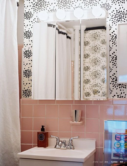 75 Best What To Do With A 50 S Pink Bathroom Images On