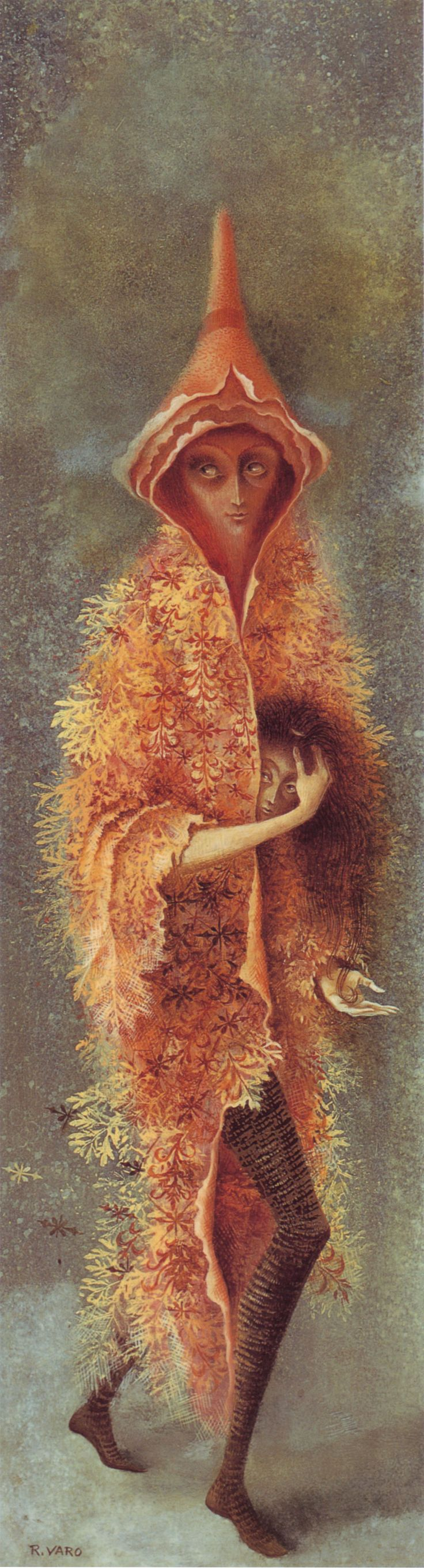 Remedios Varo, Personaje (Personage), oil on masonite, 1959.