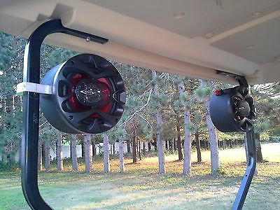 Golf Cart Stereo Speakers EZ GO Club Car Yamaha Radio Console Pods Enclosures – forklift parts and accessories