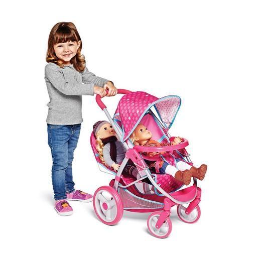 Buy Poussette jumeaux pour poupées ' Doll Malibu ' Online & Reviews