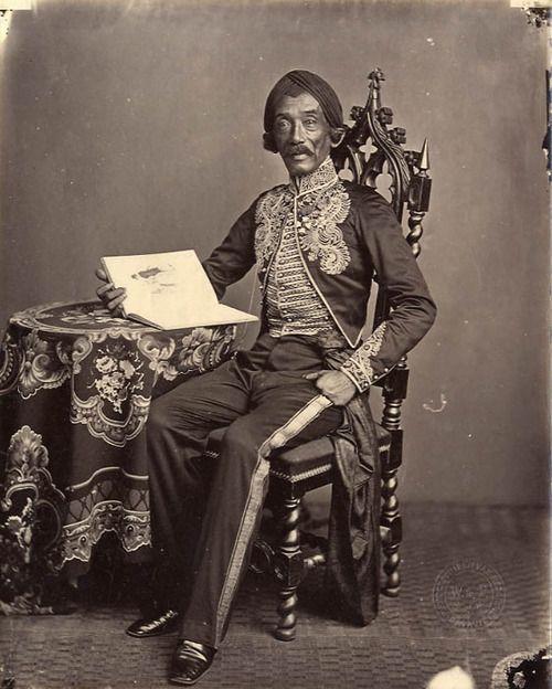 Portrait of Raden Saleh, the Indonesian artist - 1872