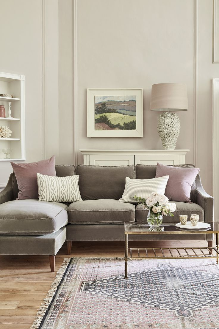 The 25 best grey velvet sofa ideas on pinterest gray for Living room sofa table decorating