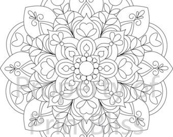 flower mandala printable coloring page - Coloring Pages Mandalas Printable