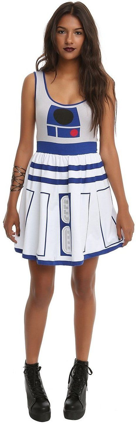 A fun women's Star Wars costume that makes you look like R2-D2.  Costume?! I would wear this any day of the year!!