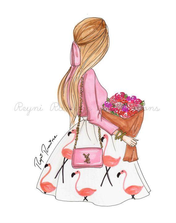 He encontrado este interesante anuncio de Etsy en https://www.etsy.com/es/listing/263487093/pink-roses-fashion-illustration-fashion