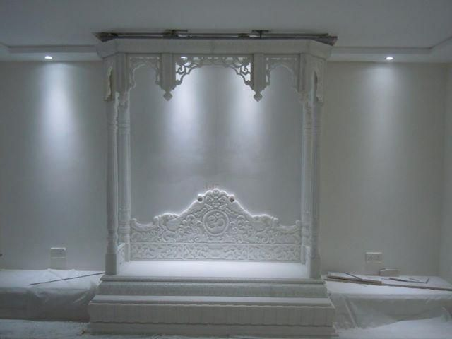 Puja room marble temple spaceio pinterest marbles temples and puja room for Marble temple designs for home
