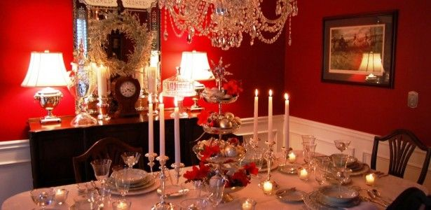 Enchanting Dining Table Centerpiece Ideas Photo Gallery Image Captivating Chandelier With Dramatic Centrepiece Also Tiny Glass Candles