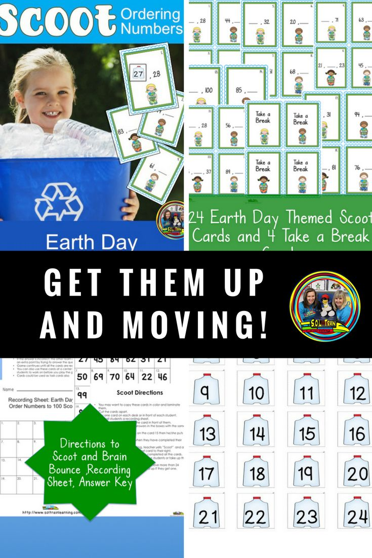 Students love to play Scoot and this Scoot game is great for Earth Day! It also has fun manipulatives for a math center for Earth Day. #earthday#math#games#missingnumbers#orderingnumbers#firstgrade#kindergarten#activities#teachersfollowingteachers#soltrainlearning#education