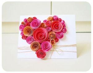 Heart-Shaped Swirl Flower Card by ana9112