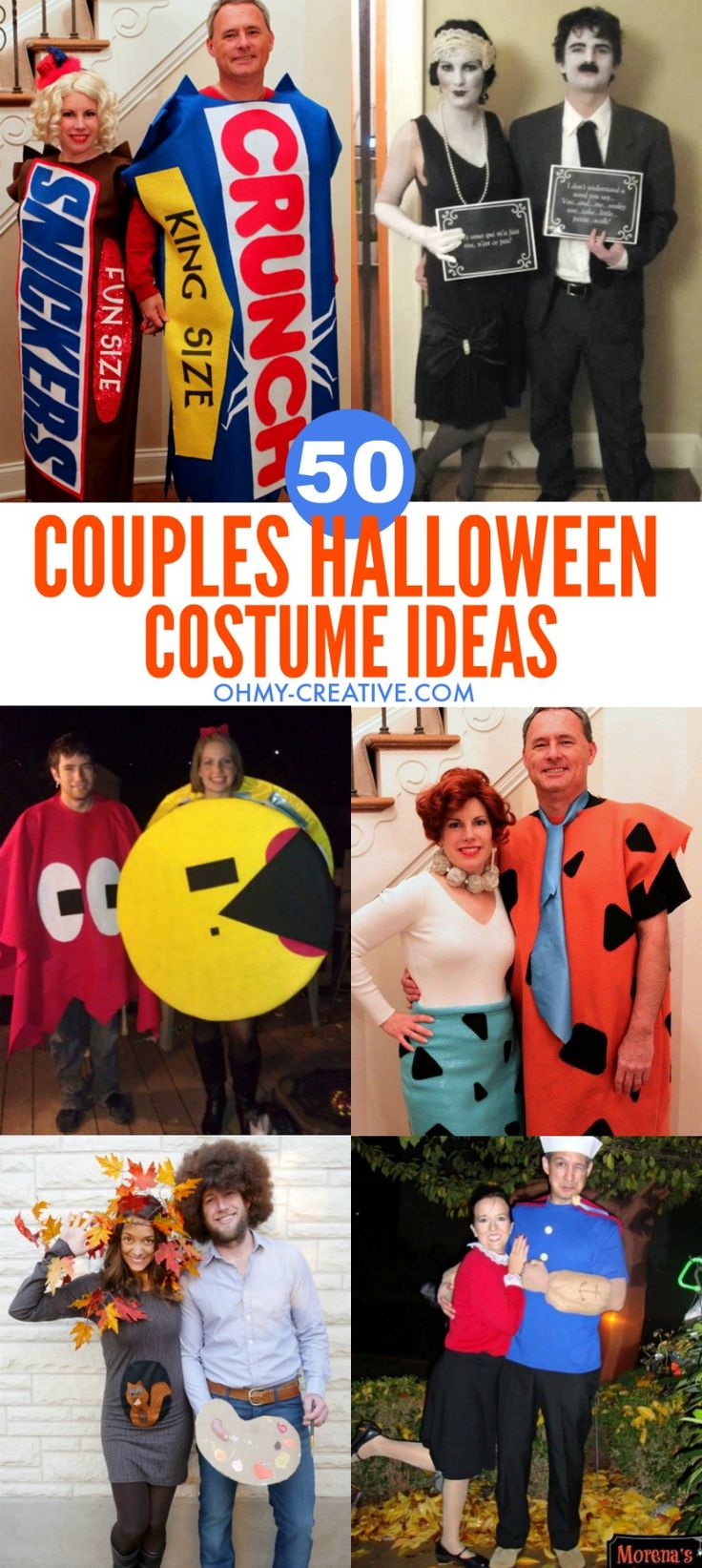 "50 Couples Halloween Costume Ideas - dress up with an adorable couples costume for you and your ""boo!"" So many his and her Couples Halloween Costumes!"