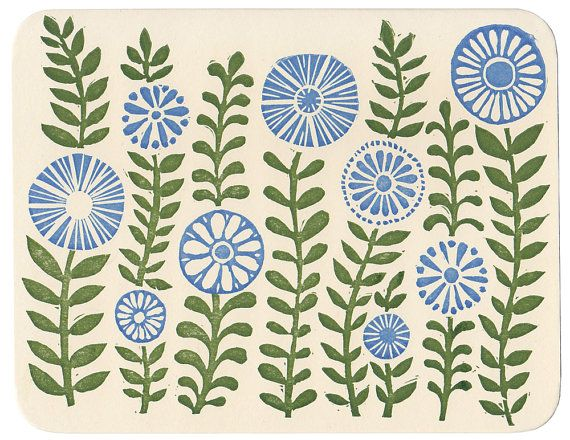 Green Gardens letterpress greeting card by MorrisandEssex on Etsy, $4.00