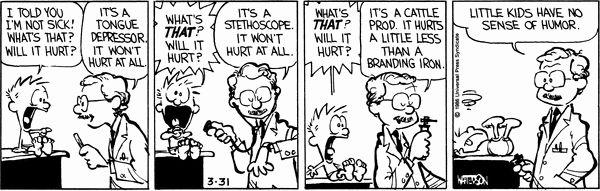 Calvin and Hobbes Comic Strip, March 31, 1986 on GoComics.com