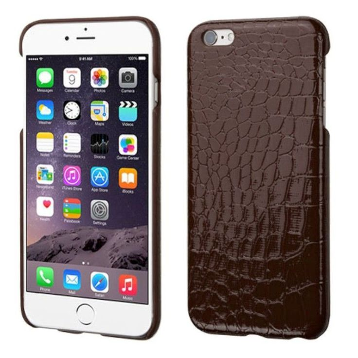 Insten Crocodile Skin Hard Snap-on Skin Case Cover for Apple iPhone 6 Plus/ 6s Plus #2177742