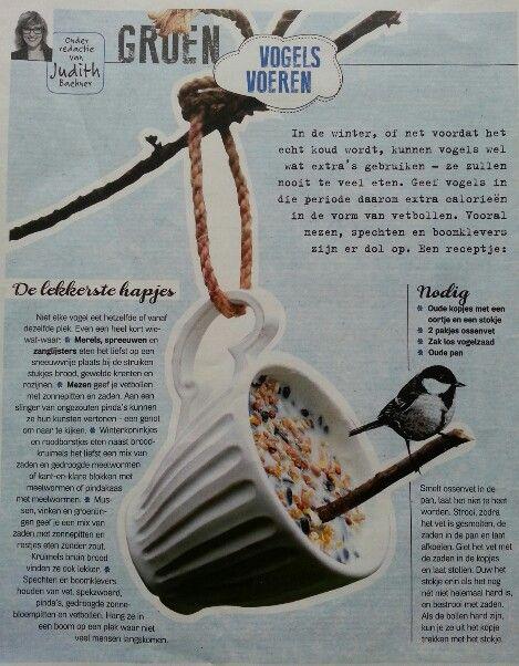 Oude kopjes met vogelvoer