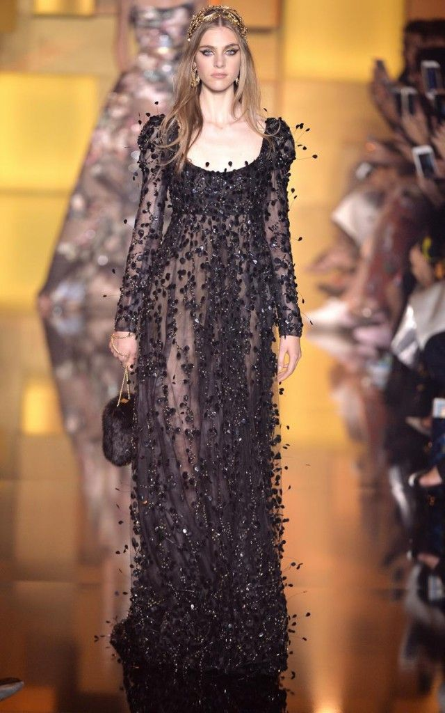 Elie Saab Aw15 collection, haute couture dress, beautiful evening gown.