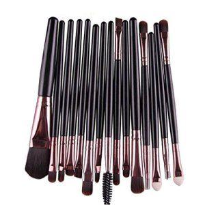 Tefamore 15 pcs / Définit la Fondation Eyeshadow Sourcils Lip Brush pinceaux de maquillage outil[noir]: Tweet Description: 100% tout neuf…