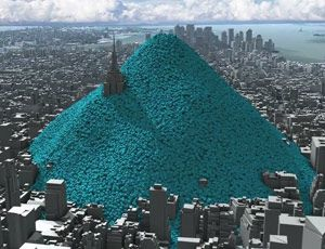 New York swamped with balls - emissions carbon d'un jour de Big Apple