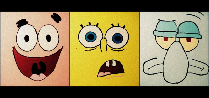 spongebob diy painted on canvases