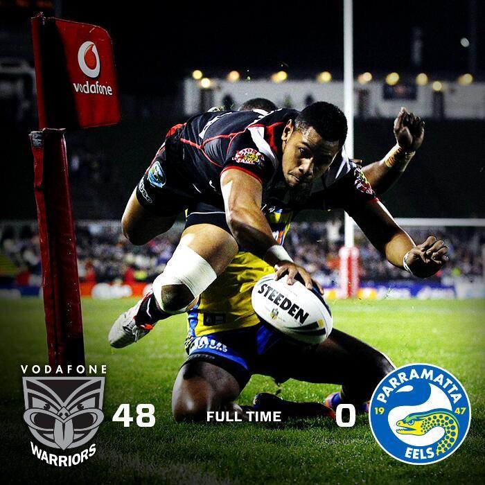 NZ Warriors 48 Parramatta Eels 0 - 12/7/2014
