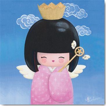 KOKESHI - carte postale - International Graphics - Produktdetailseite - Kuenstlersuche - komplett - Lakraa Myriam - IGP 3682 - ?p=1