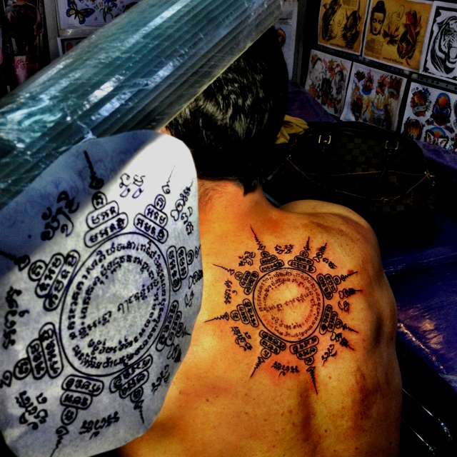 Thai tattoo sak yant