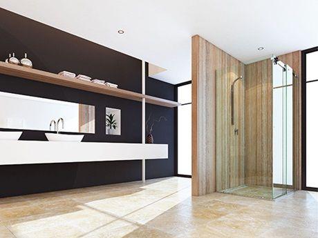 Semi-Frameless Showerscreens | Shower Screens | Stegbar Showersceens