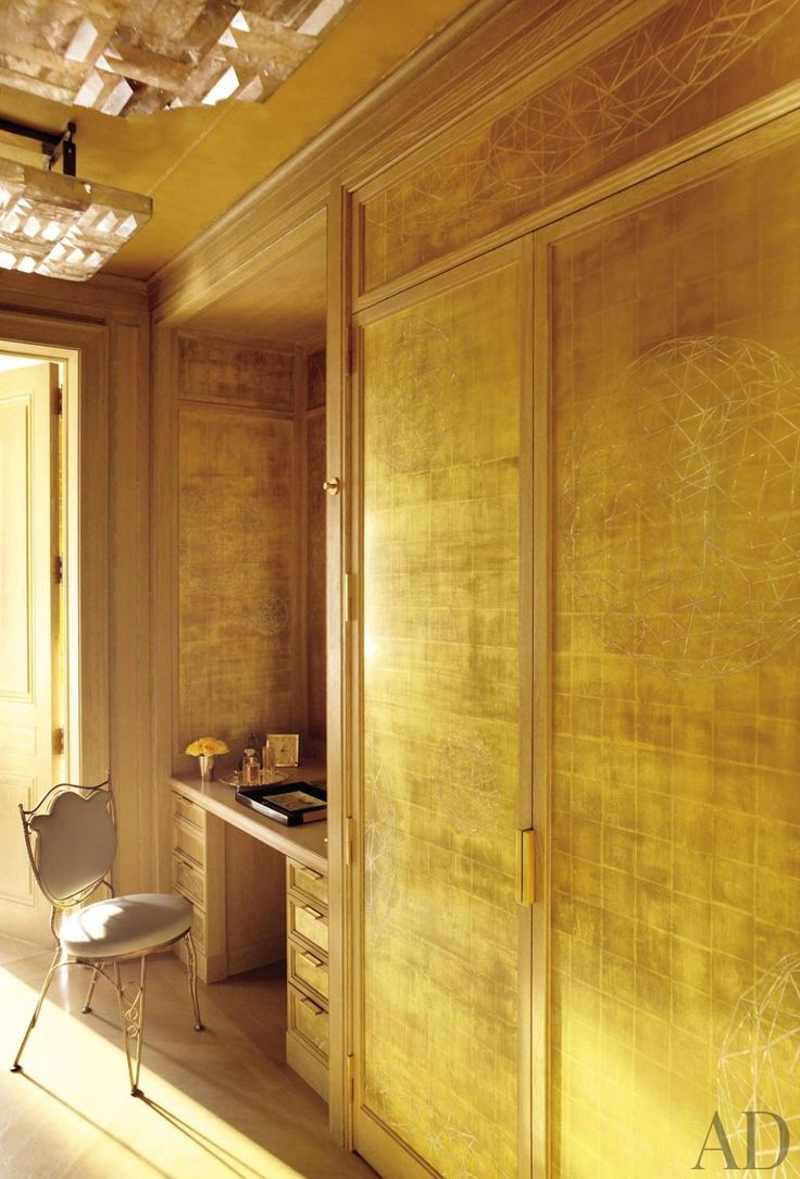 There is a dressing table mirror and lockers and drawersgalore - Michael S Smith And Ferguson Shamamian Architects Designed This Luxurious Manhattan Dressing Sheathed In
